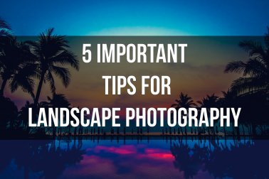 5 Important tips for landscape photography