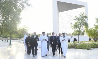 A Delegation from AAU Visit the Founder's Memorial