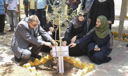 AAU plants a Ghaf tree, in collaboration with Takatof