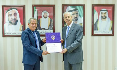 Al Ain Club honors AAU professors on the occasion of Teacher's Day, and the AAU President presented the appreciation certificates